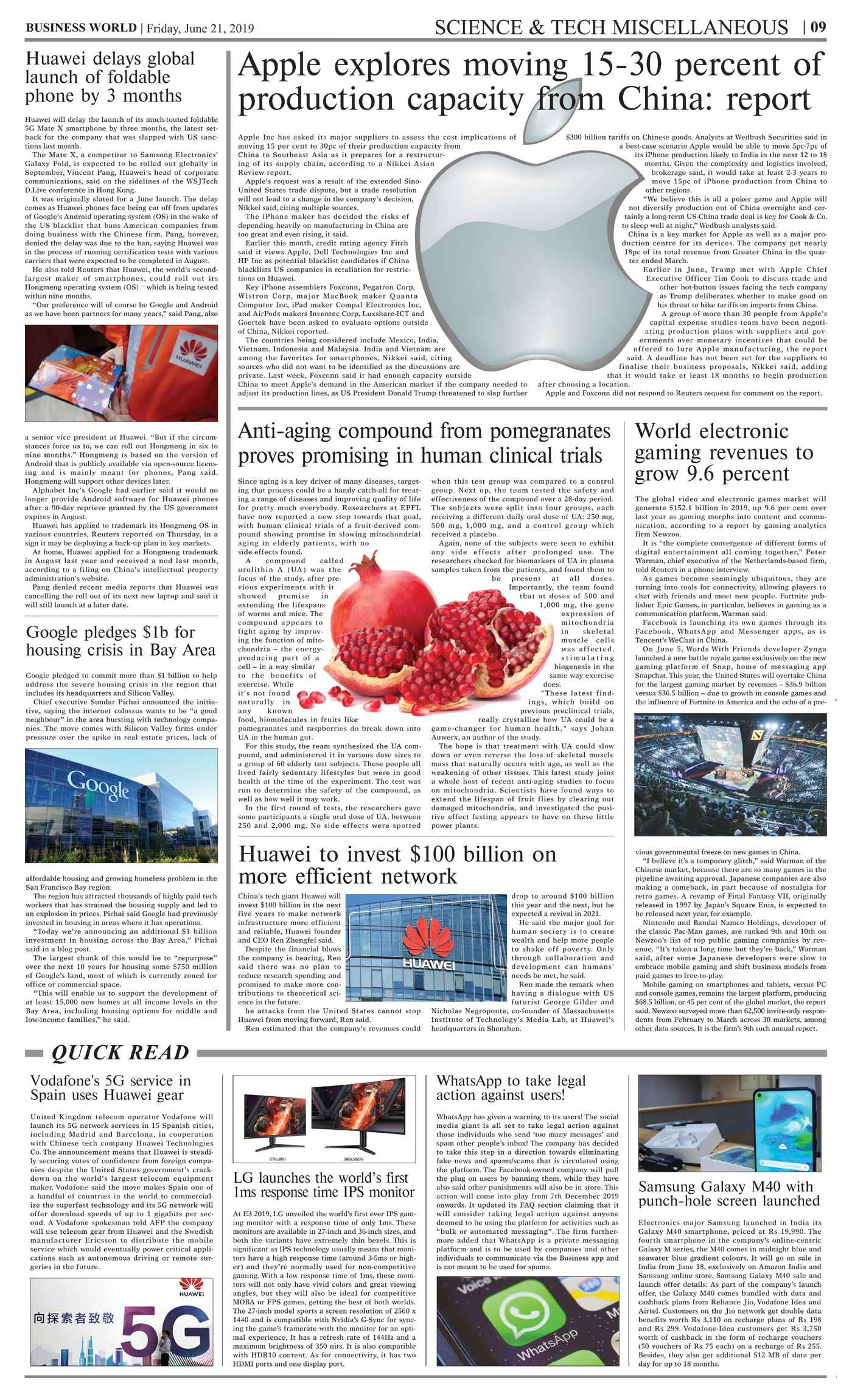 Daily Business World E-Paper 21st June 2019 - Daily Business