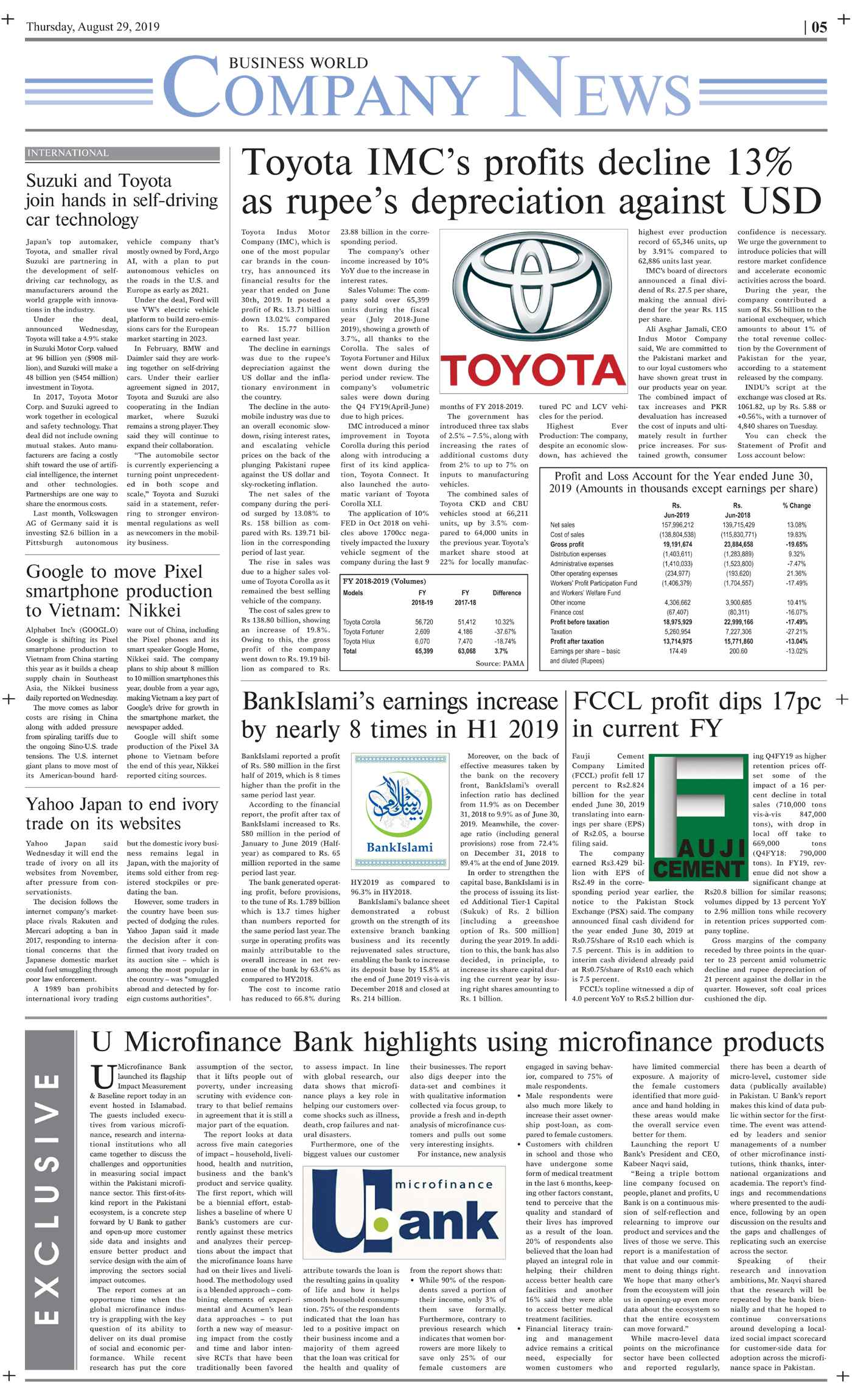 Daily Business World E-Paper 29th August 2019 - Daily